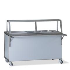 Comptoir de distribution froid 4x 1/1 GN avec refroidissement et étage