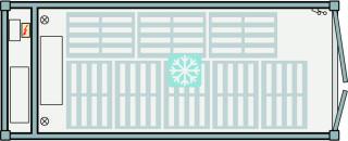 Unité de réfrigération / congélation 20ft